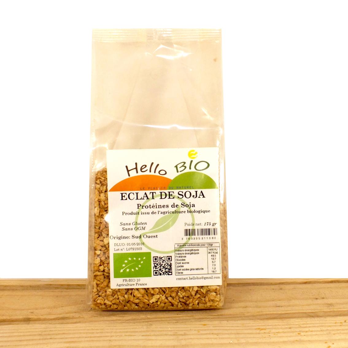 Eclat ou Farine de Soja Hellobio Bioagricola