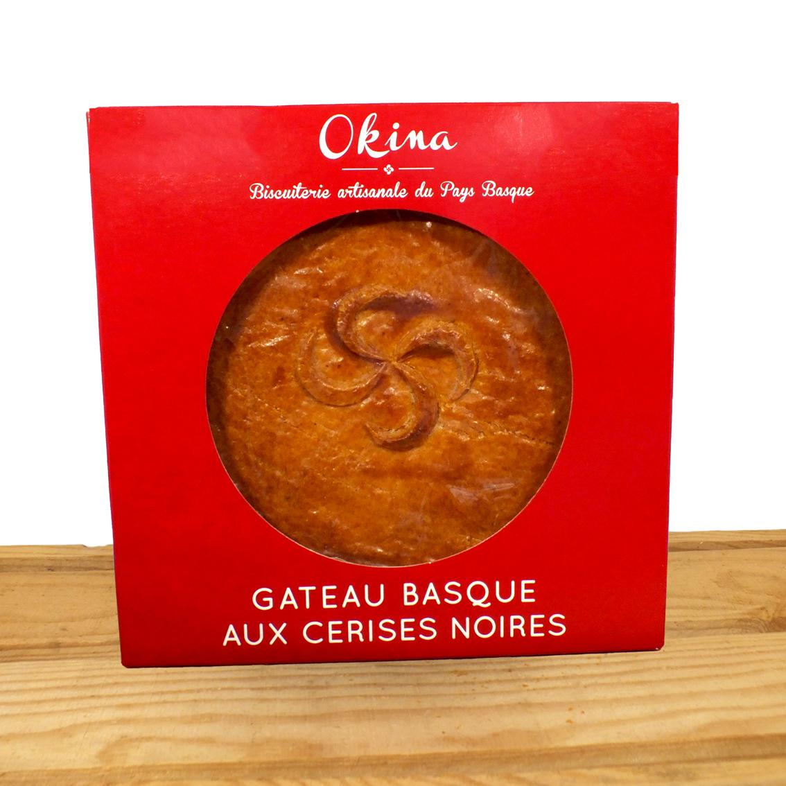 Gâteau basque à la cerise noire Okina