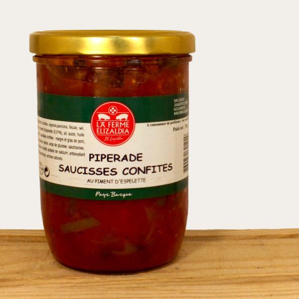 Piperade saucisses confites ferme Elizaldia