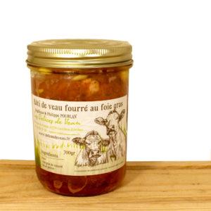 Rôti de veau fourré au foie gras (veau) Delices de veau