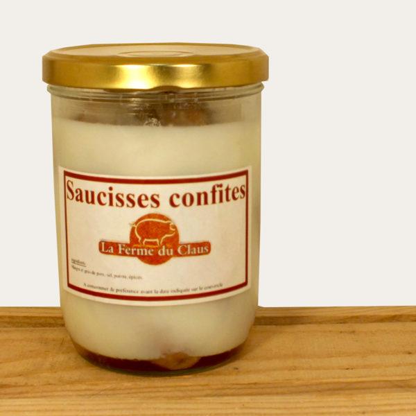 Saucisses confites Ferme du Claüs